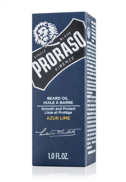 Proraso Beard Oil, Azur Lime, 1.0 fl oz (30 ml)
