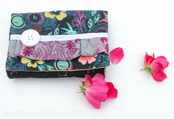 3 Layer Clutch Gingercake modern sewing pattern UpCraft Club