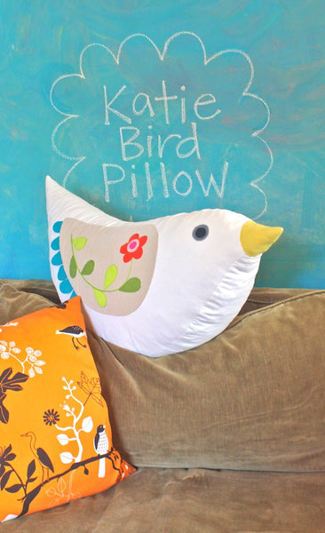 Katie Bird Pillow sewing pattern tutorial
