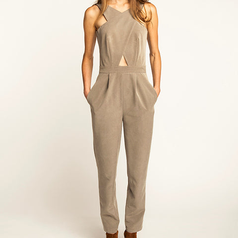 Ailakki Cross Front Jumpsuit