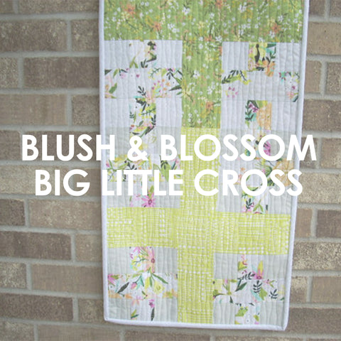 Blush and Bloom Big and Little Cross Table Runner pattern