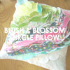 Blush and Bloom Circle Circle Pillow Cover