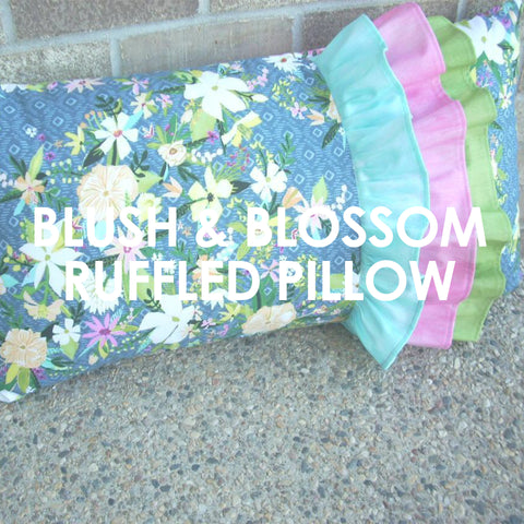 Blush and Bloom Ruffled Pillow Cover pattern