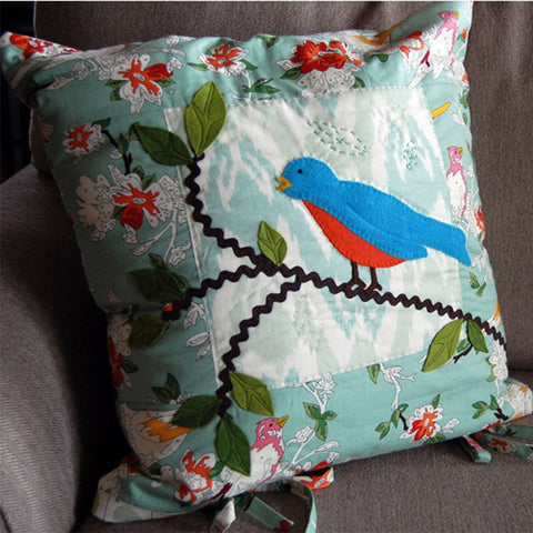 Bluebirds and Leaves Pillows