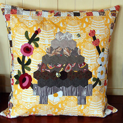 Bustling Beehive Pillow