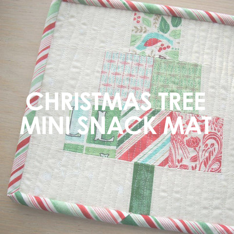 Christmas Tree Mini Quilt Snack Mat pattern