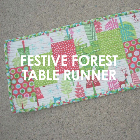 Festive Forest Table Runner pattern
