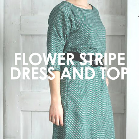 Flower Stripe Dress and Top