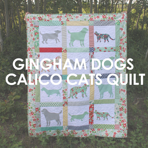 Gingham Dogs and Calico Cats Quilt