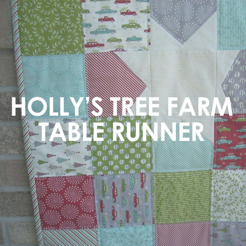 Holly's Tree Farm Table Runner pattern