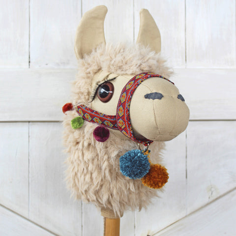 Llama Ride-on Toy Stick Horse