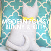 Modern Folksy Bunny and Kitty