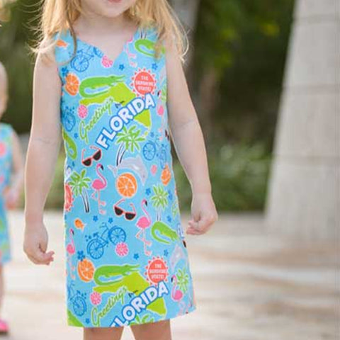 Paradise Island Shift Dress – Girls