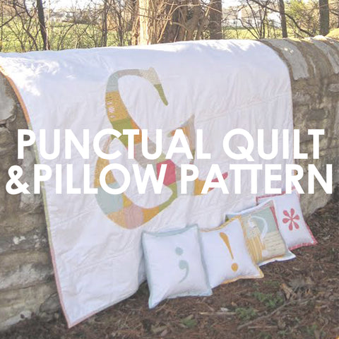 Punctual Quilt and Pillow