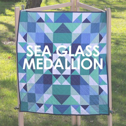 Sea Glass Medallion Quilt Pattern
