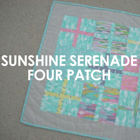 Sunshine Serenade Four Patch Centerpiece pattern