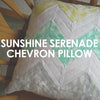 Sunshine Serenade Chevron Pillow Cover pattern