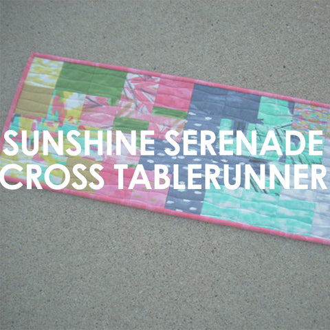 Sunshine Serenade Cross Table Runner pattern