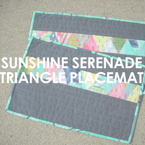 Sunshine Serenade Triangle Place Mat pattern