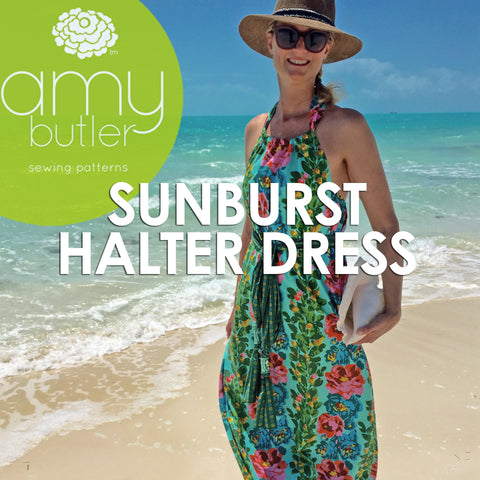 Sunburst Halter Dress