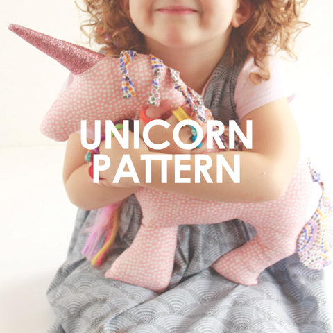 Unicorn Soft Toy Cushion Pattern