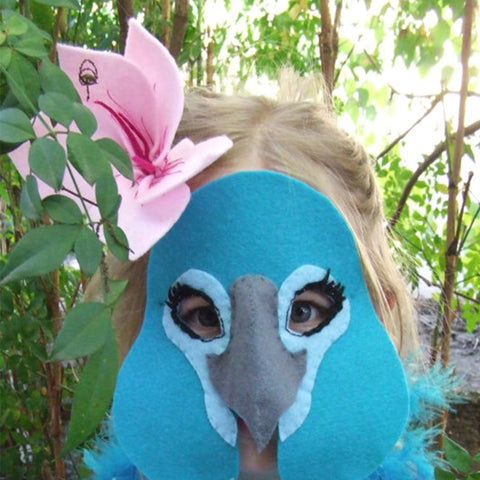 Blue macaw mask