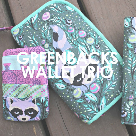 Greenbacks Wallet Trio