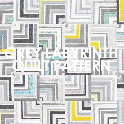 Grey Labyrinth Quilt Pattern