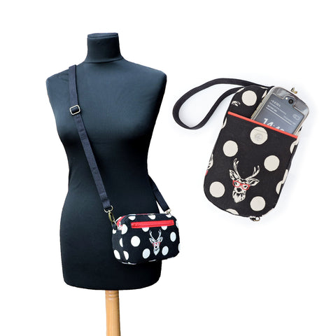 Mini Messenger Bag That Converts to a Cell Phone Wristlet