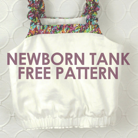 Newborn Paneled Sunsuit Tank