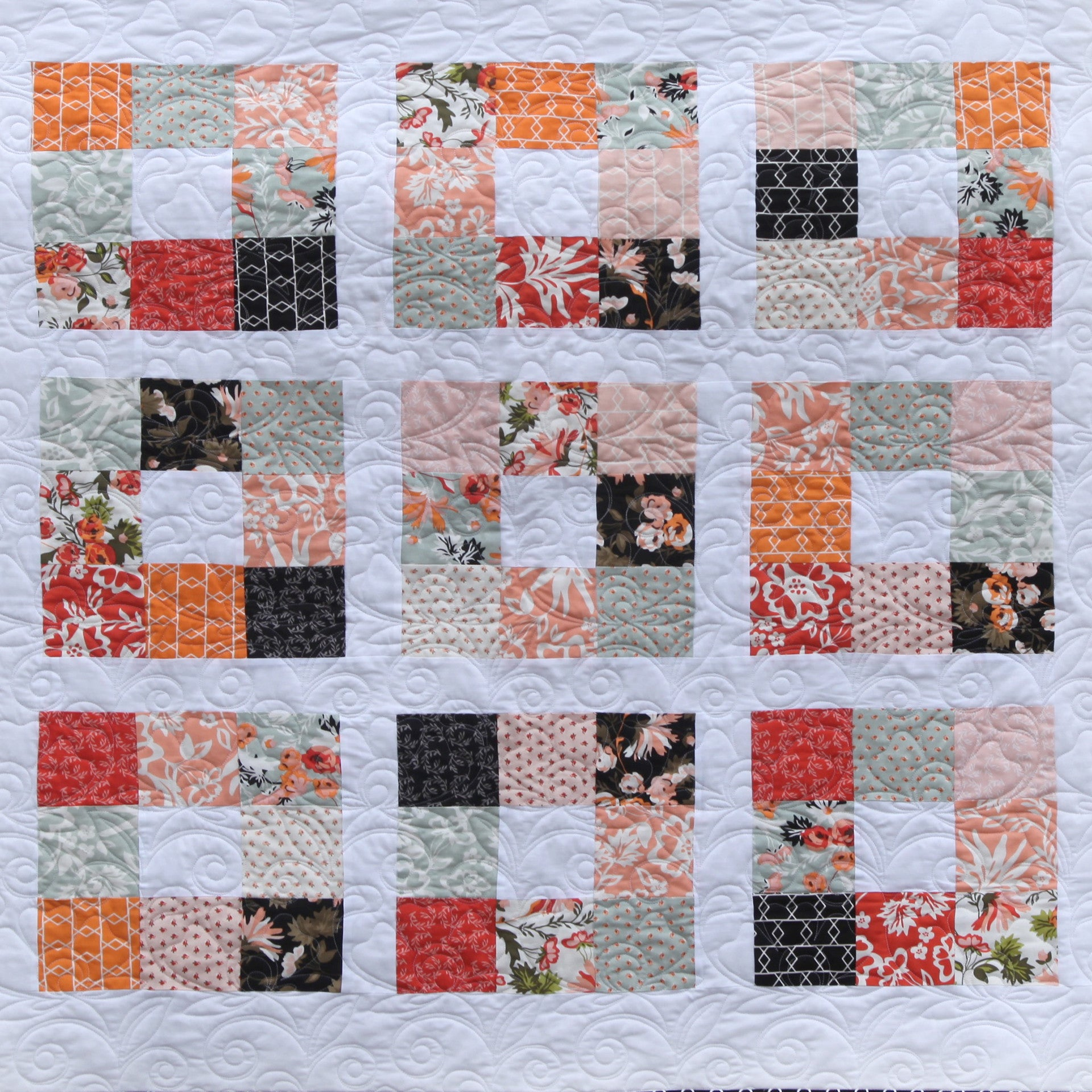 persimmon nine patch quilt pattern