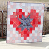 Pixel Star in a Pixel Heart Quilt Pattern