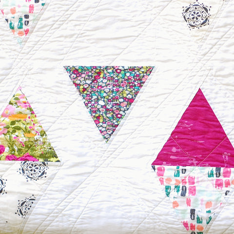 Triangle Garden Quilt Pattern