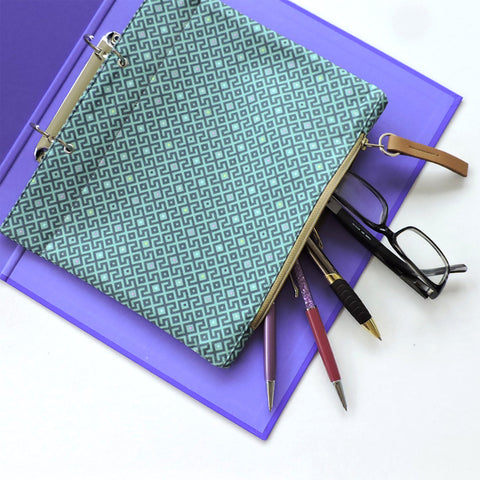 Zipper file pencil case
