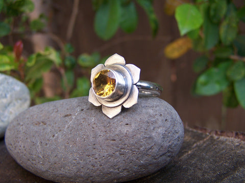 Sacral Chakra Sterling Silver Ring