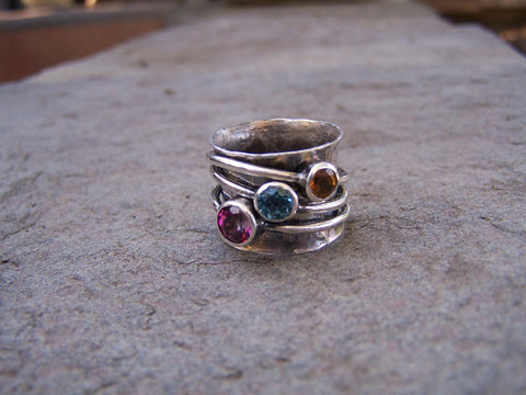Birthstone Spinner Ring