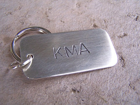 Solid Sterling Silver KeyChain Dog Tag
