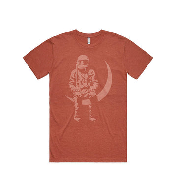 Moon Man T-Shirt Brick Heather