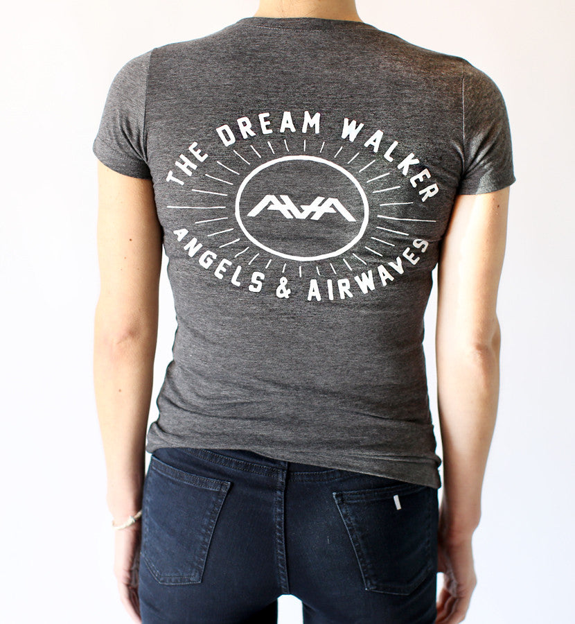 Angels and Airwaves-Simple Burst Womens T-Shirt Heather Grey-SMALL-To The Stars...