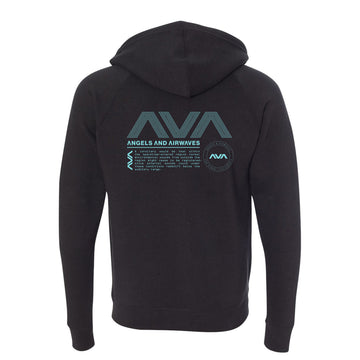 Angels and Airwaves Data Package Unisex Zip-Up Hoodie Black - To The Stars...