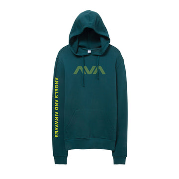 Angels and Airwaves Circuitboard Pullover Hoodie Teal/Neon - To The Stars...