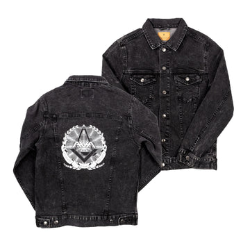 Crest Denim Jacket Black