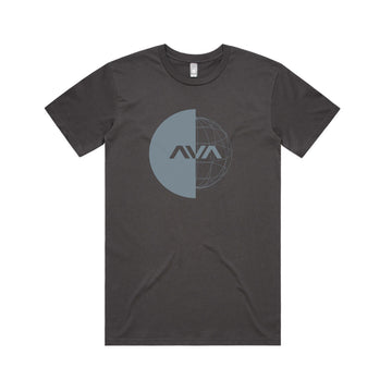 Global T-Shirt Charcoal/Pale Blue