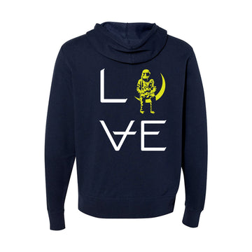 Love Stacked Unisex Zip-Up Hoodie