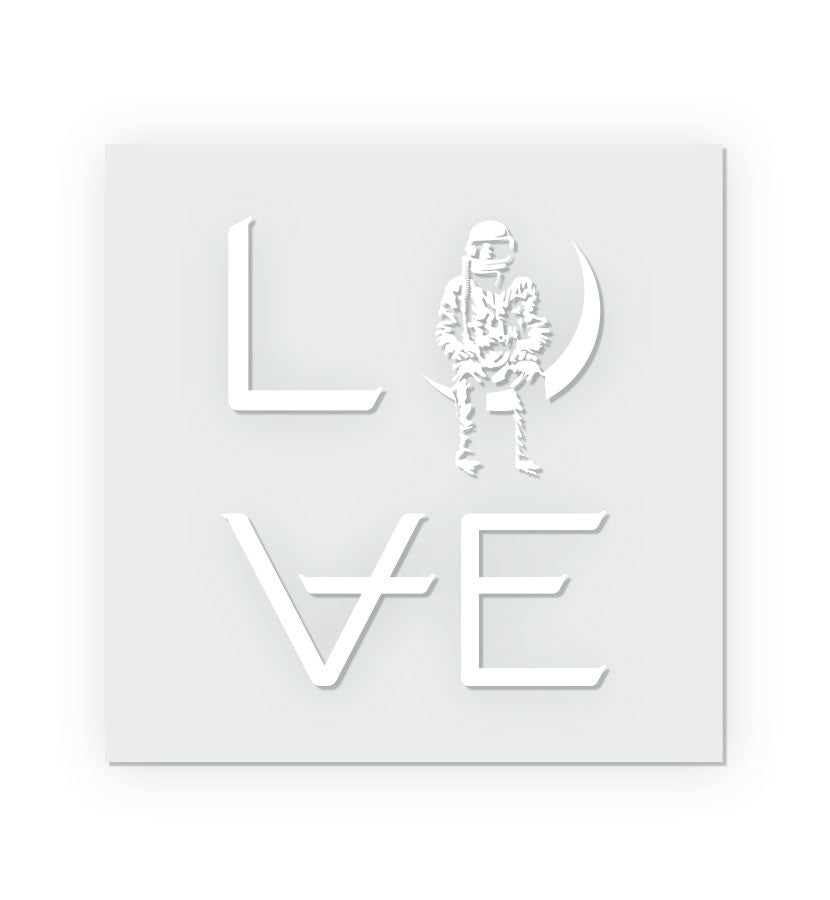 LOVE Stacked Clear Sticker
