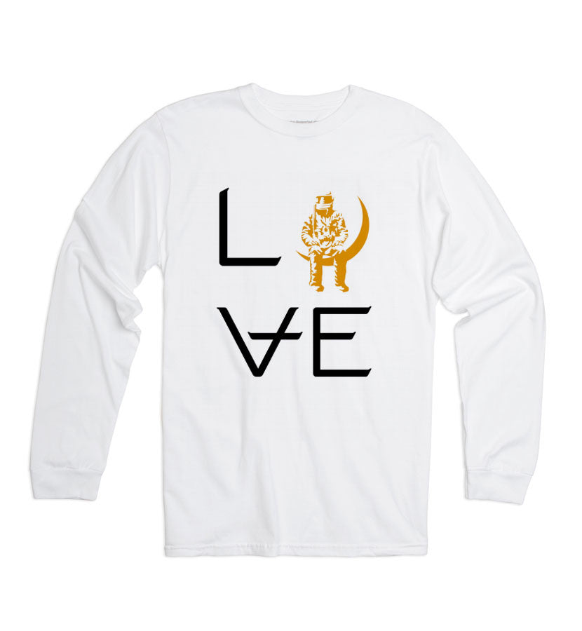 Angels and Airwaves Love Stacked Long Sleeve T-Shirt White - To The Stars - 1