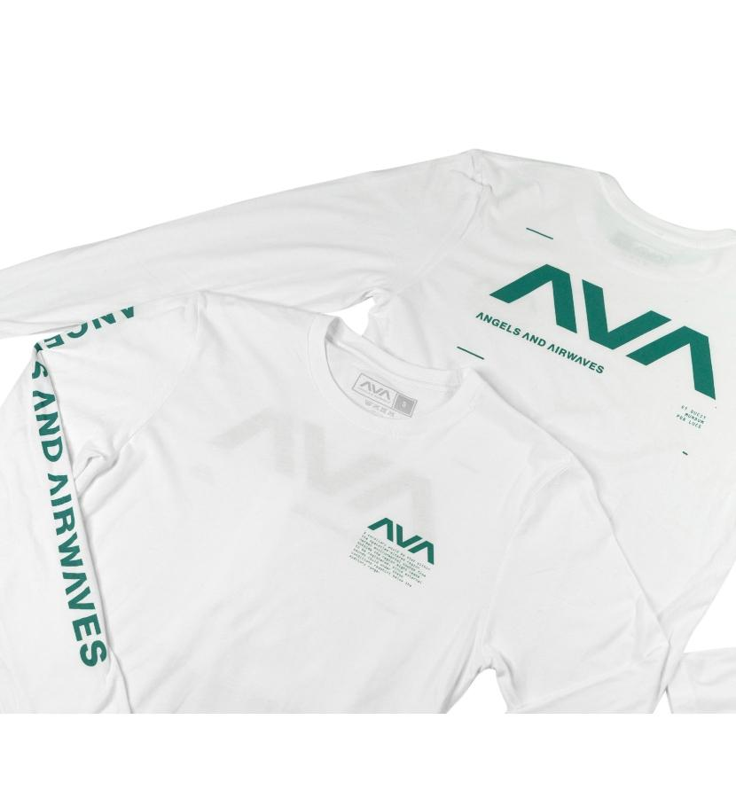 Angels and Airwaves Data L/S T-Shirt White/Dark Teal - To The Stars...
