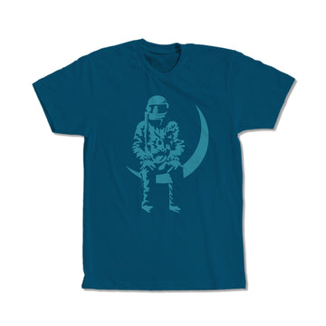 Angels and Airwaves Moon Man T-Shirt Deep Teal - To The Stars...