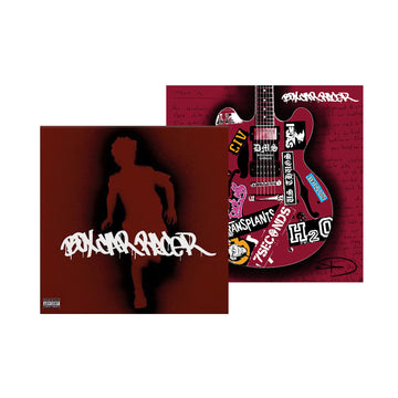 Box Car Racer Striped LP + Signed Screen-Printed Poster