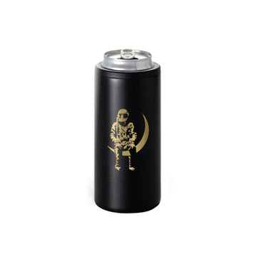 Moon Man 12oz Skinny Can Cooler Black/Gold